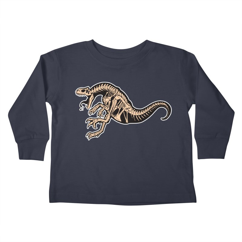 Allosaurus Kids Toddler Longsleeve T-Shirt by Crab Saw Apparel