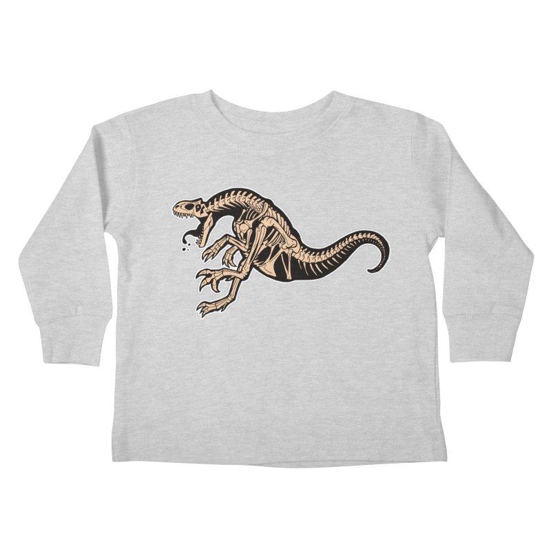 Allosaurus Kids Toddler Longsleeve T-Shirt by Crab Saw Apparel