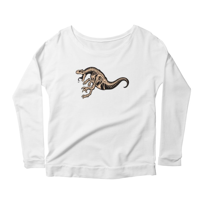 Allosaurus Women's Scoop Neck Longsleeve T-Shirt by Crab Saw Apparel