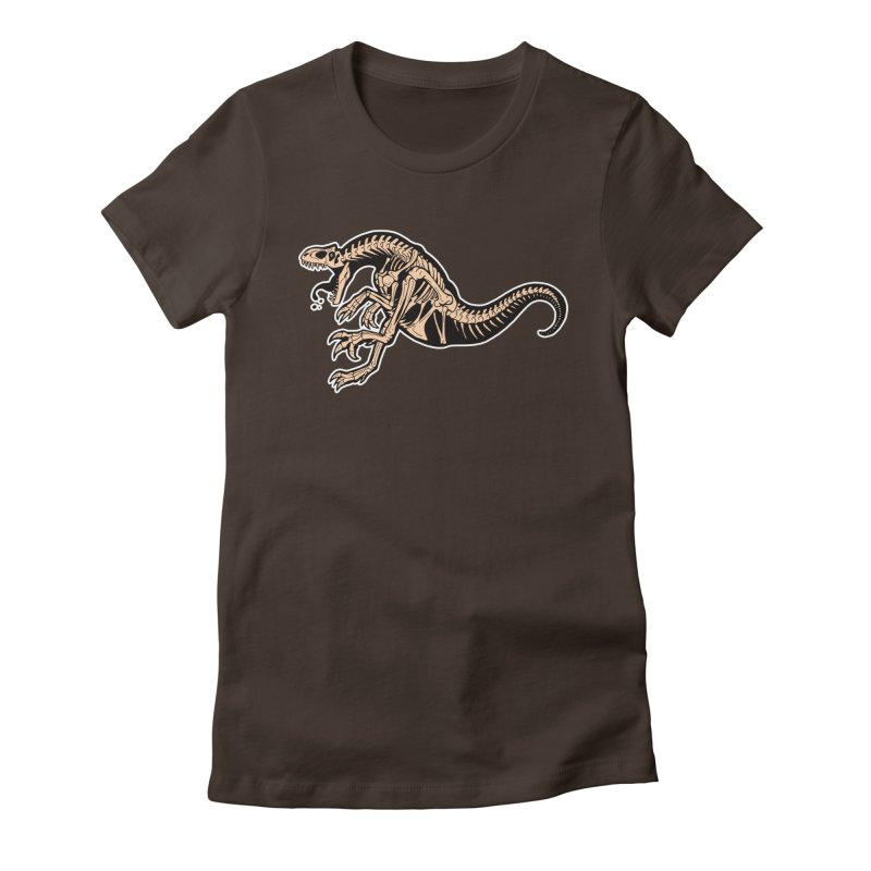 Allosaurus Women's Fitted T-Shirt by Crab Saw Apparel