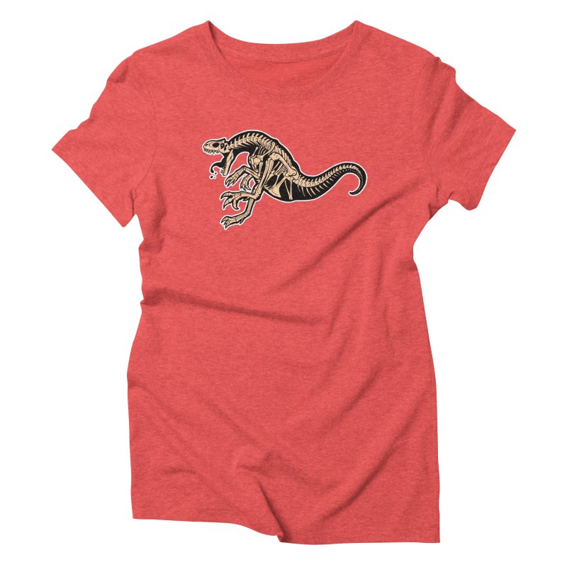 Allosaurus Women's Triblend T-Shirt by Crab Saw Apparel