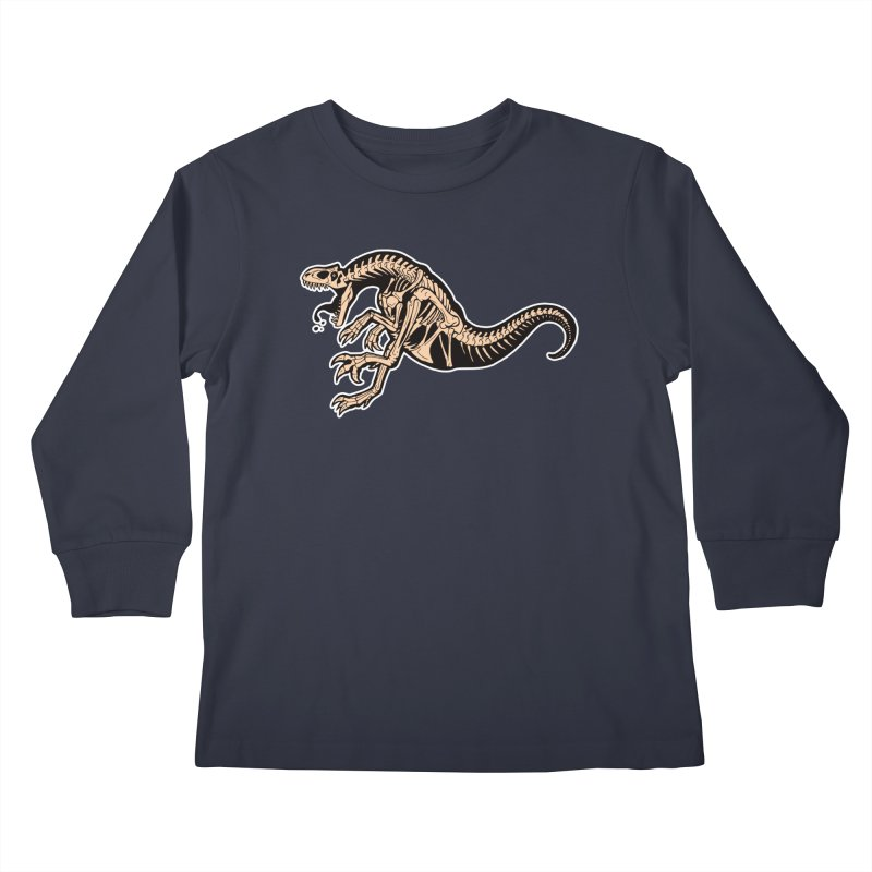 Allosaurus Kids Longsleeve T-Shirt by Crab Saw Apparel