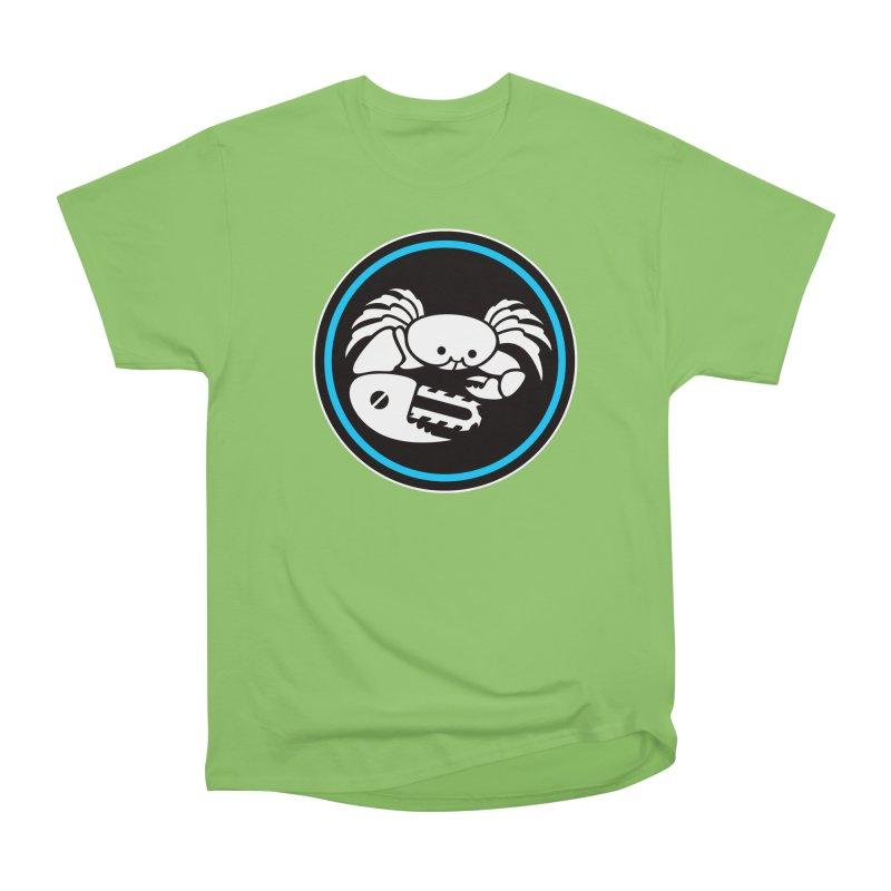 Crab Saw Logo Men's Heavyweight T-Shirt by Crab Saw Apparel