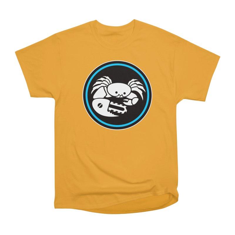 Crab Saw Logo Women's Heavyweight Unisex T-Shirt by Crab Saw Apparel