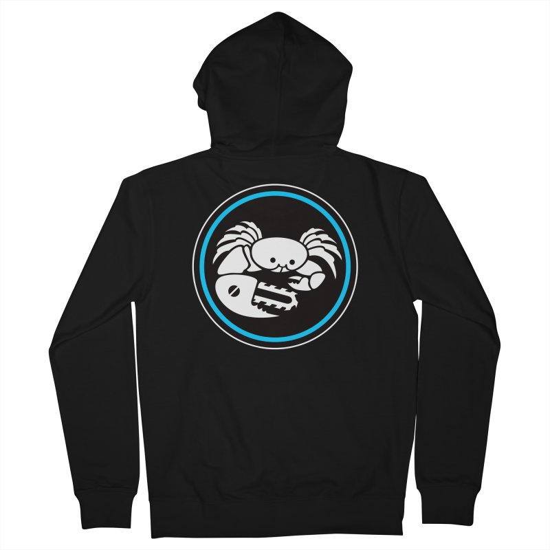 Crab Saw Logo Women's French Terry Zip-Up Hoody by Crab Saw Apparel