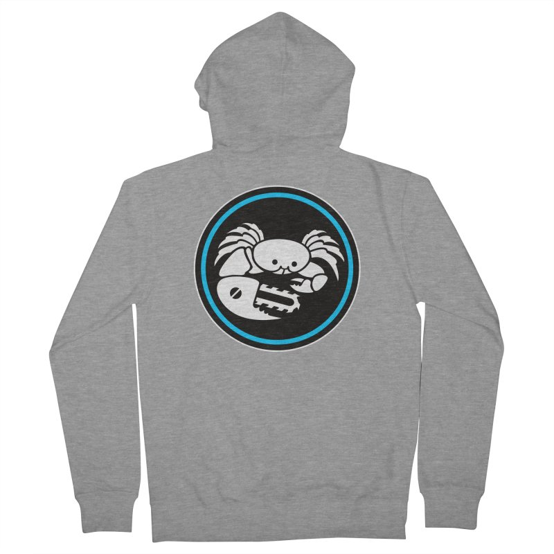 Crab Saw Logo Men's French Terry Zip-Up Hoody by Crab Saw Apparel