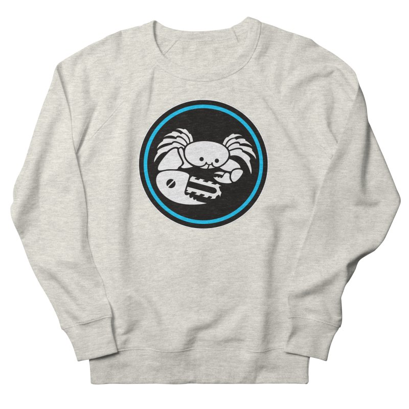 Crab Saw Logo Men's French Terry Sweatshirt by Crab Saw Apparel