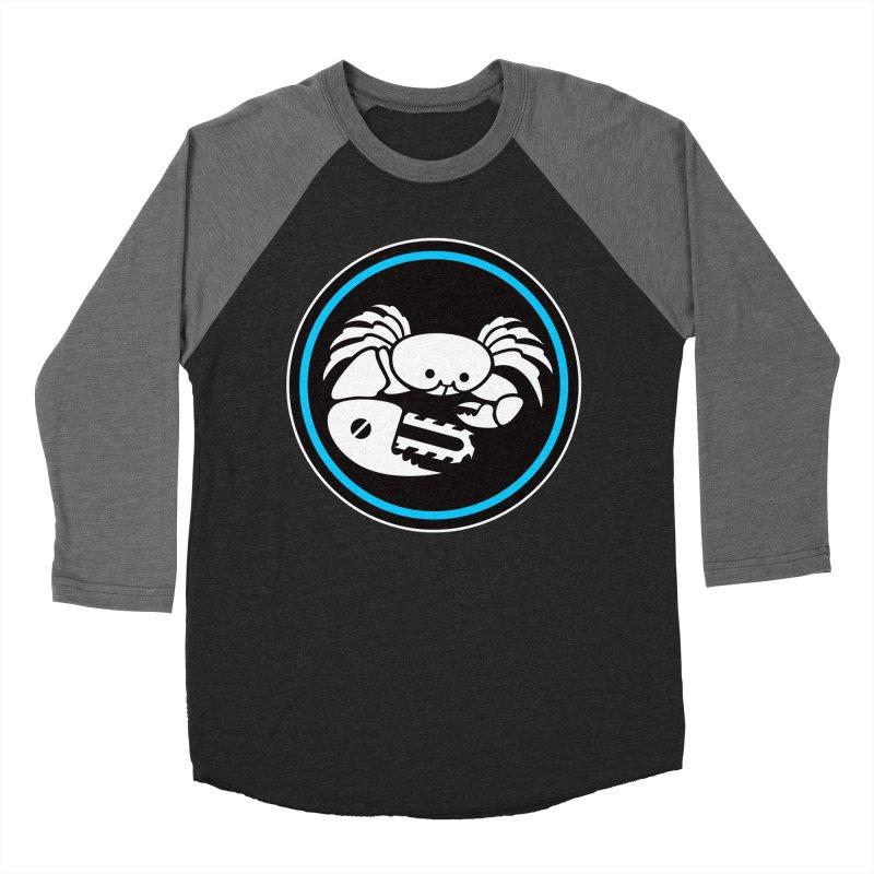 Crab Saw Logo Men's Baseball Triblend Longsleeve T-Shirt by Crab Saw Apparel
