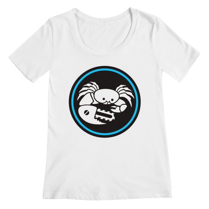 Crab Saw Logo Women's Regular Scoop Neck by Crab Saw Apparel