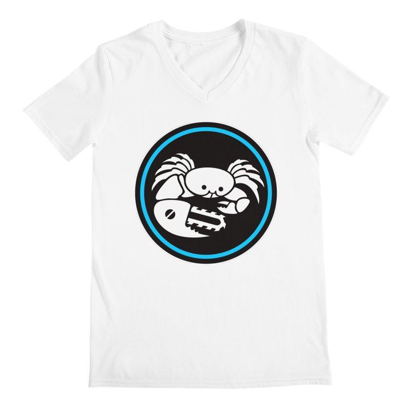 Crab Saw Logo Men's Regular V-Neck by Crab Saw Apparel