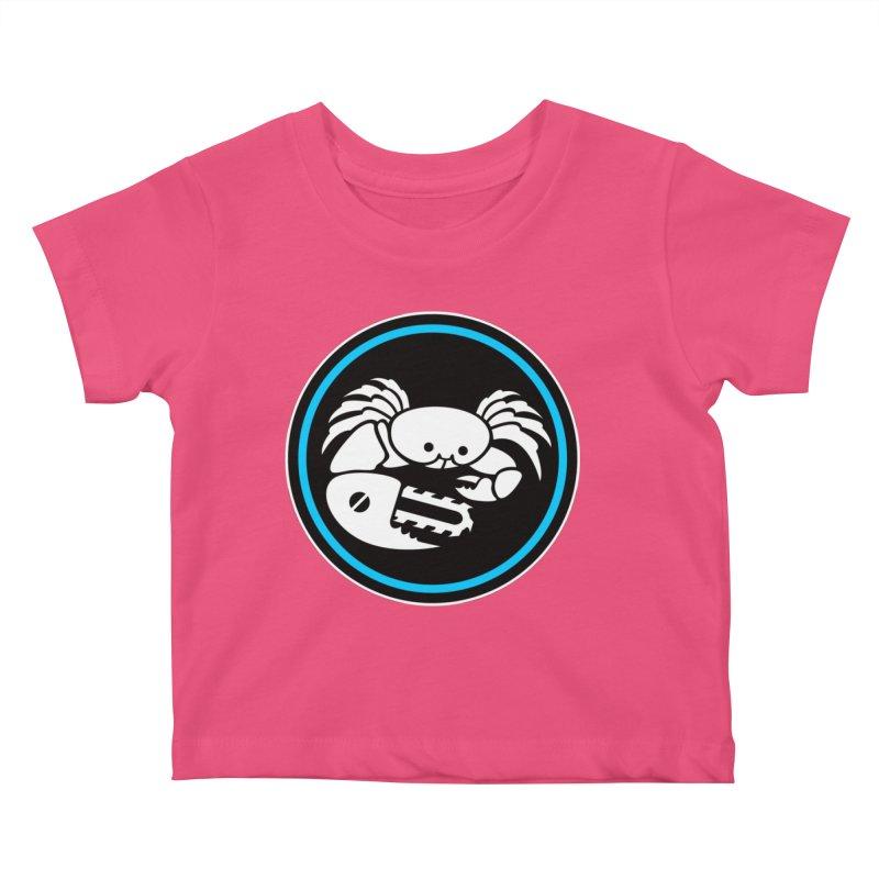 Crab Saw Logo Kids Baby T-Shirt by Crab Saw Apparel