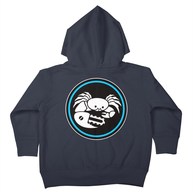 Crab Saw Logo Kids Toddler Zip-Up Hoody by Crab Saw Apparel