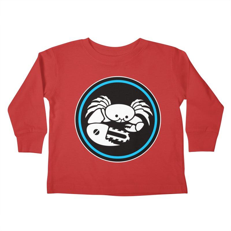 Crab Saw Logo Kids Toddler Longsleeve T-Shirt by Crab Saw Apparel