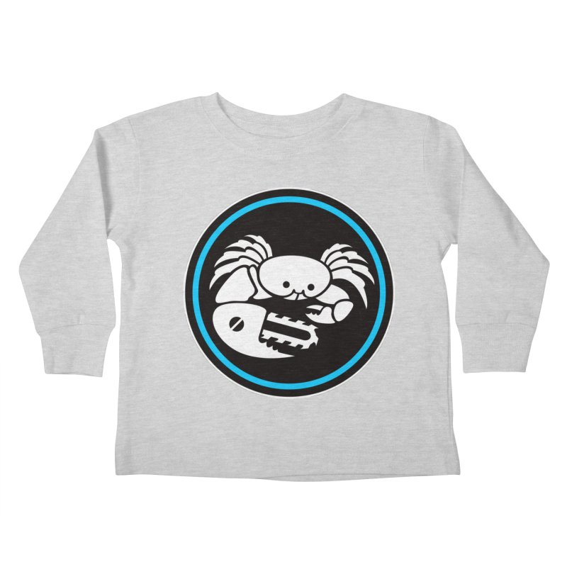 Crab Saw Logo Kids Toddler Longsleeve T-Shirt by Crab Saw Apparel