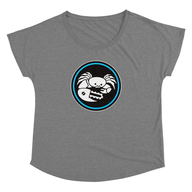 Crab Saw Logo Women's Scoop Neck by Crab Saw Apparel