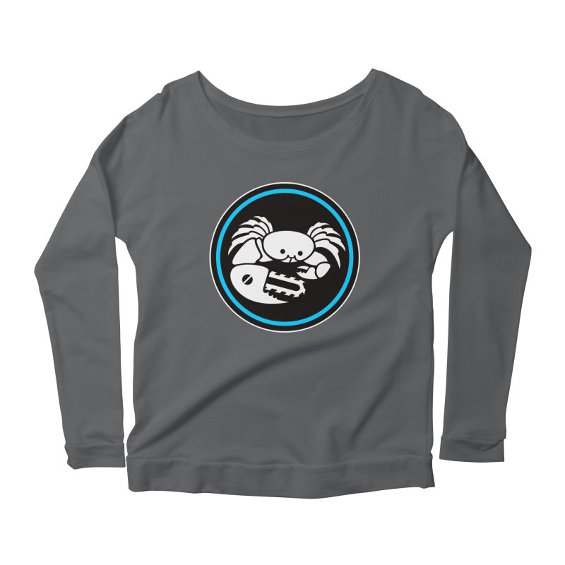 Crab Saw Logo Women's Scoop Neck Longsleeve T-Shirt by Crab Saw Apparel