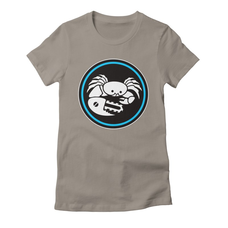 Crab Saw Logo Women's Fitted T-Shirt by Crab Saw Apparel