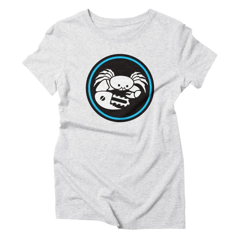 Crab Saw Logo Women's Triblend T-Shirt by Crab Saw Apparel