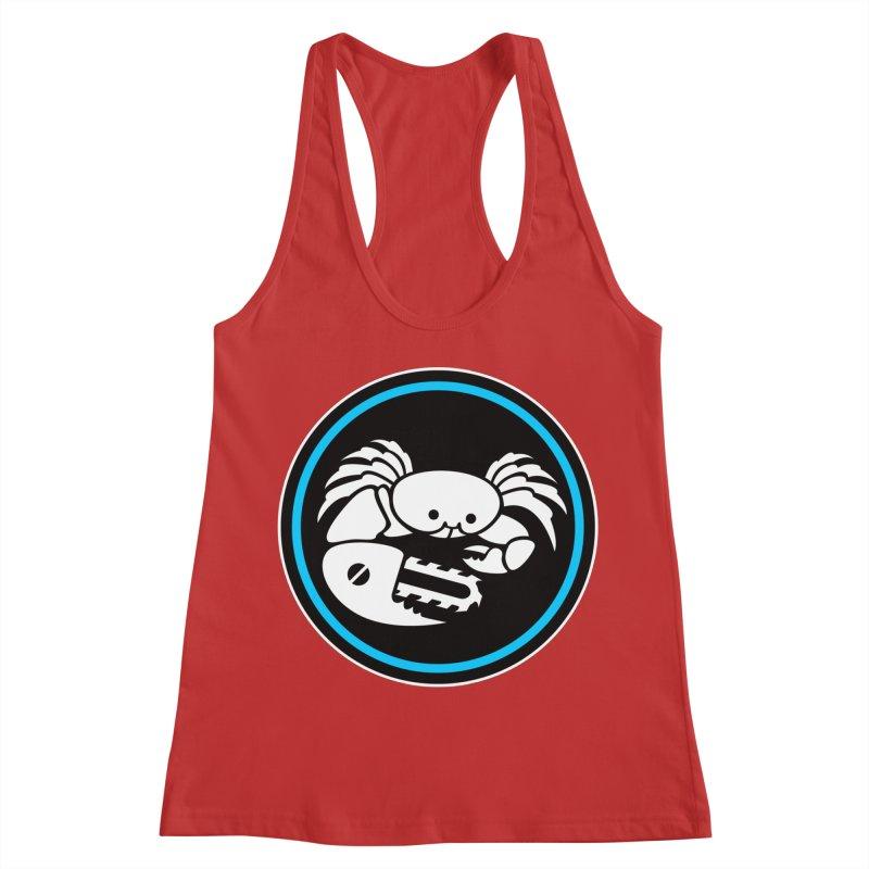 Crab Saw Logo Women's Racerback Tank by Crab Saw Apparel