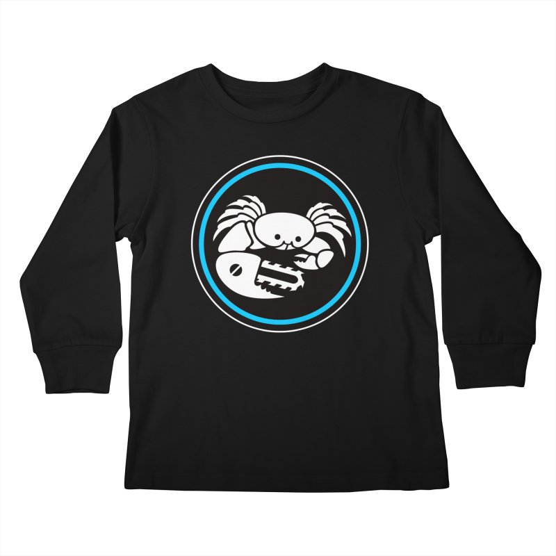 Crab Saw Logo Kids Longsleeve T-Shirt by Crab Saw Apparel