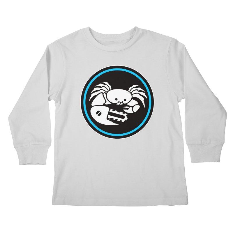 Crab Saw Logo Kids Longsleeve T-Shirt by Crab Saw Apparel