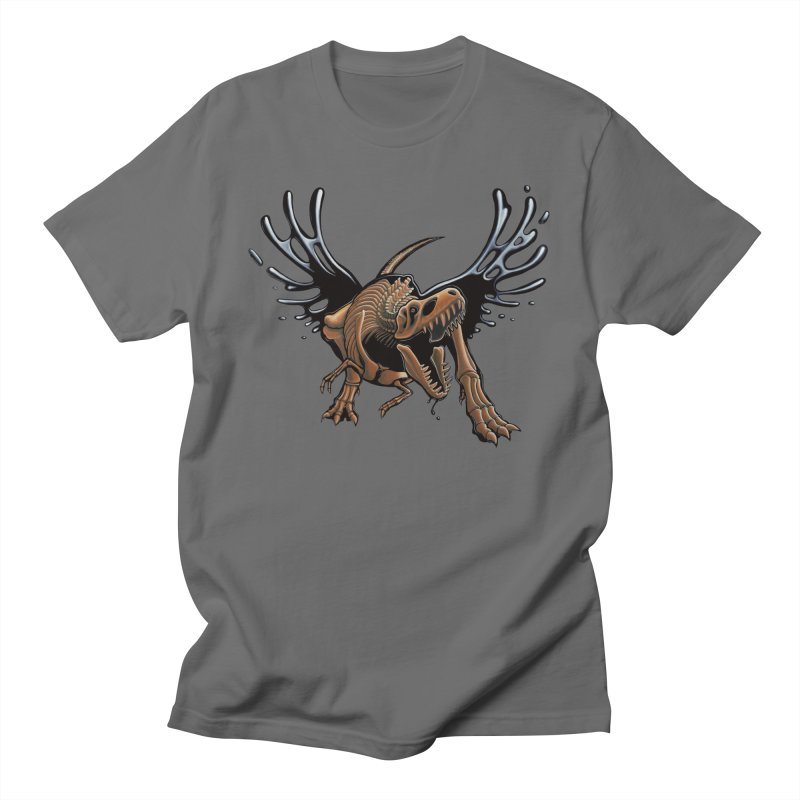 T-Rex Tar & Feathered Men's T-Shirt by Crab Saw Apparel