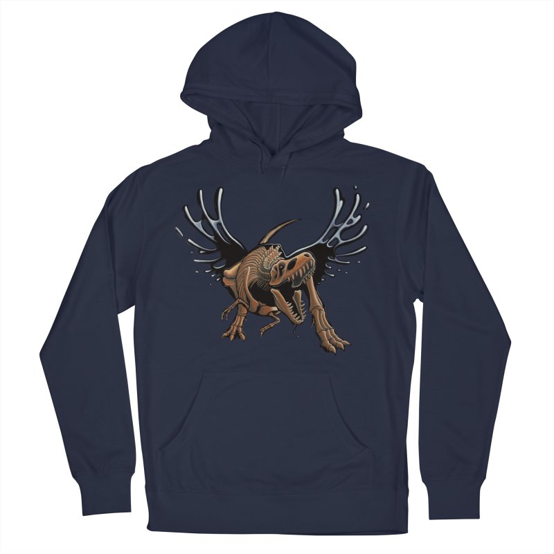 T-Rex Tar & Feathered Men's Pullover Hoody by Crab Saw Apparel