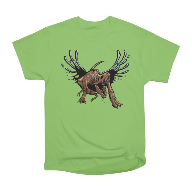 T-Rex Tar & Feathered Women's Heavyweight Unisex T-Shirt by Crab Saw Apparel