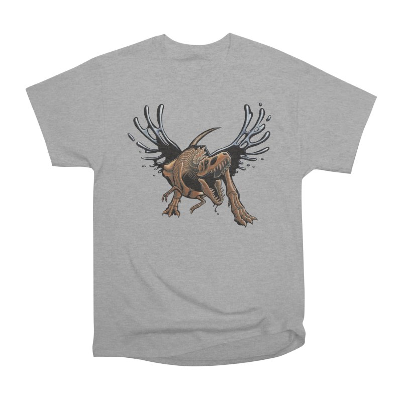 T-Rex Tar & Feathered Men's Heavyweight T-Shirt by Crab Saw Apparel
