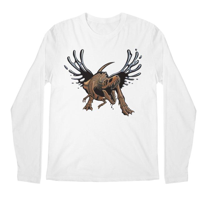 T-Rex Tar & Feathered Men's Regular Longsleeve T-Shirt by Crab Saw Apparel