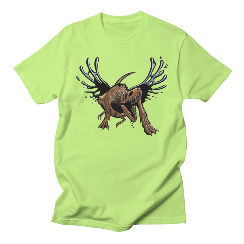 T-Rex Tar & Feathered Men's Regular T-Shirt by Crab Saw Apparel