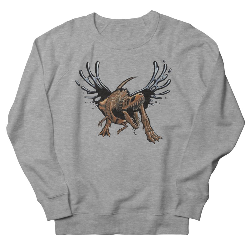 T-Rex Tar & Feathered Men's French Terry Sweatshirt by Crab Saw Apparel