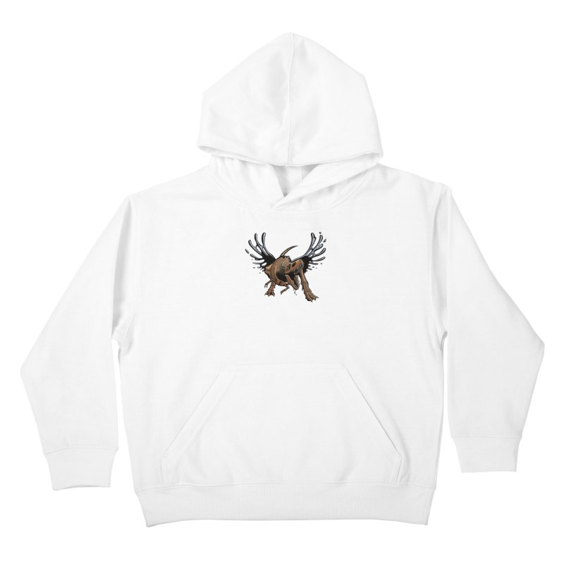 T-Rex Tar & Feathered Kids Pullover Hoody by Crab Saw Apparel