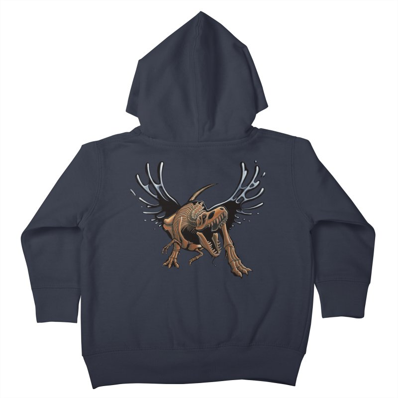 T-Rex Tar & Feathered Kids Toddler Zip-Up Hoody by Crab Saw Apparel