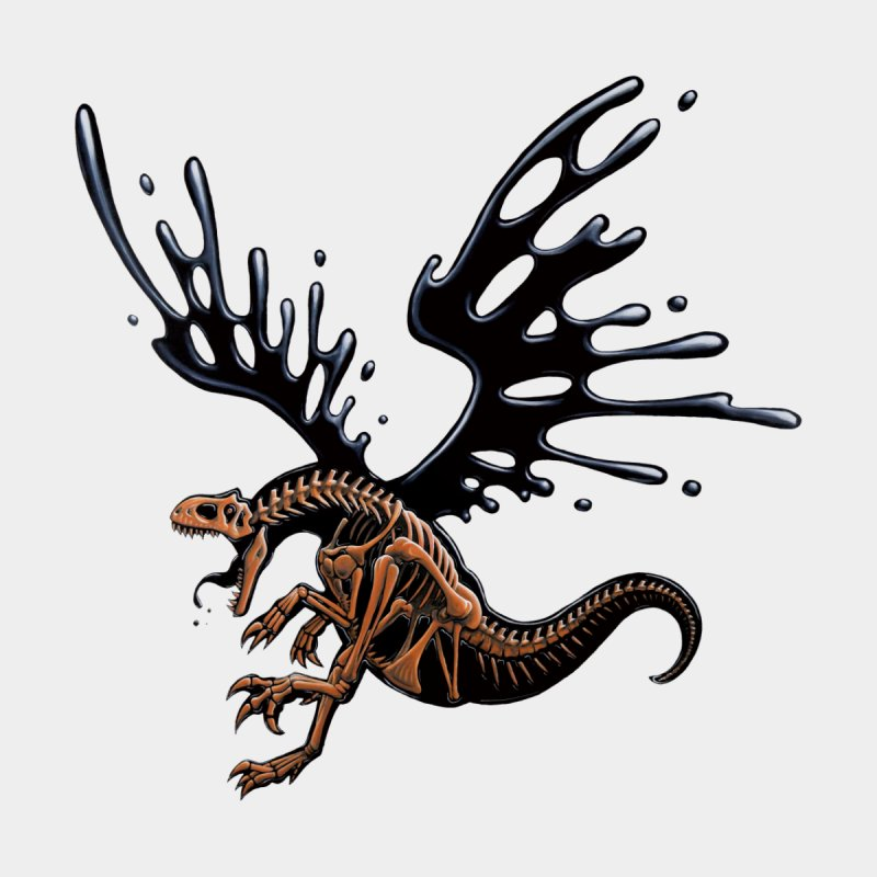 Allosaurus Tar & Feathered by Crab Saw Apparel