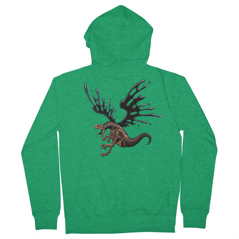 Allosaurus Tar & Feathered Women's Zip-Up Hoody by Crab Saw Apparel