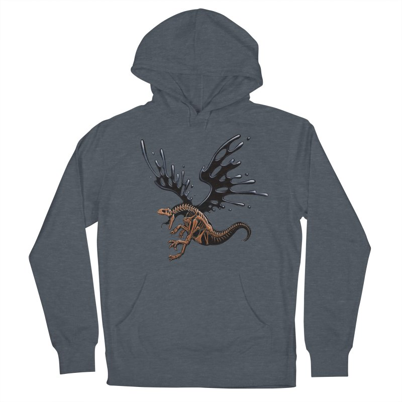 Allosaurus Tar & Feathered Women's French Terry Pullover Hoody by Crab Saw Apparel