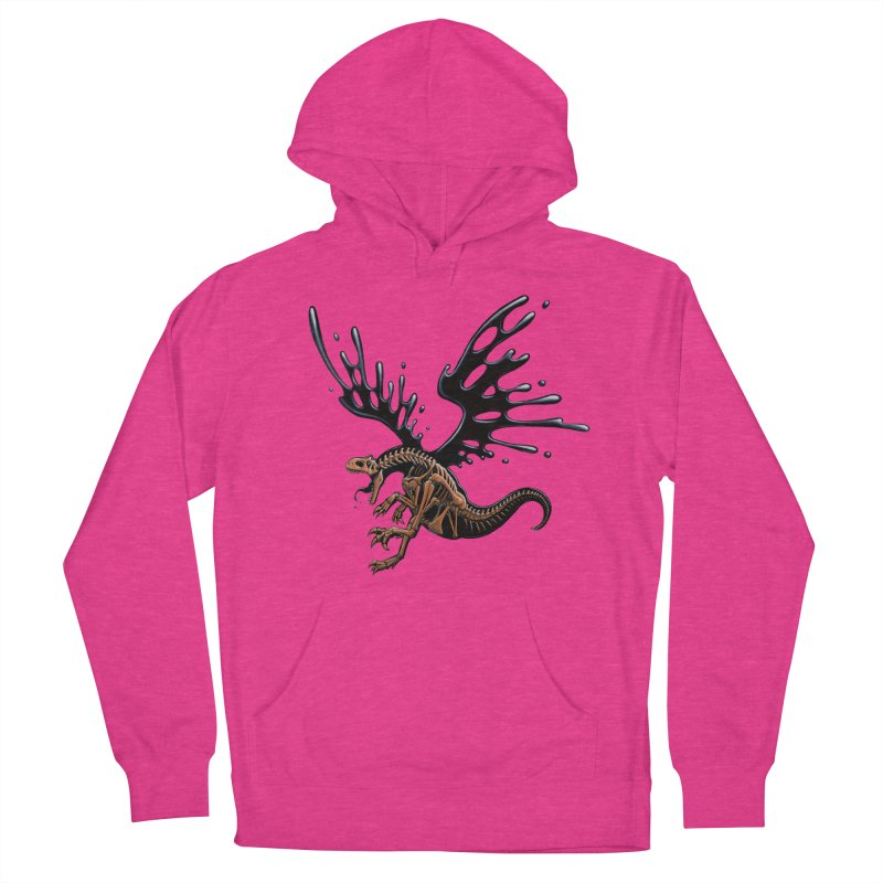 Allosaurus Tar & Feathered Men's French Terry Pullover Hoody by Crab Saw Apparel