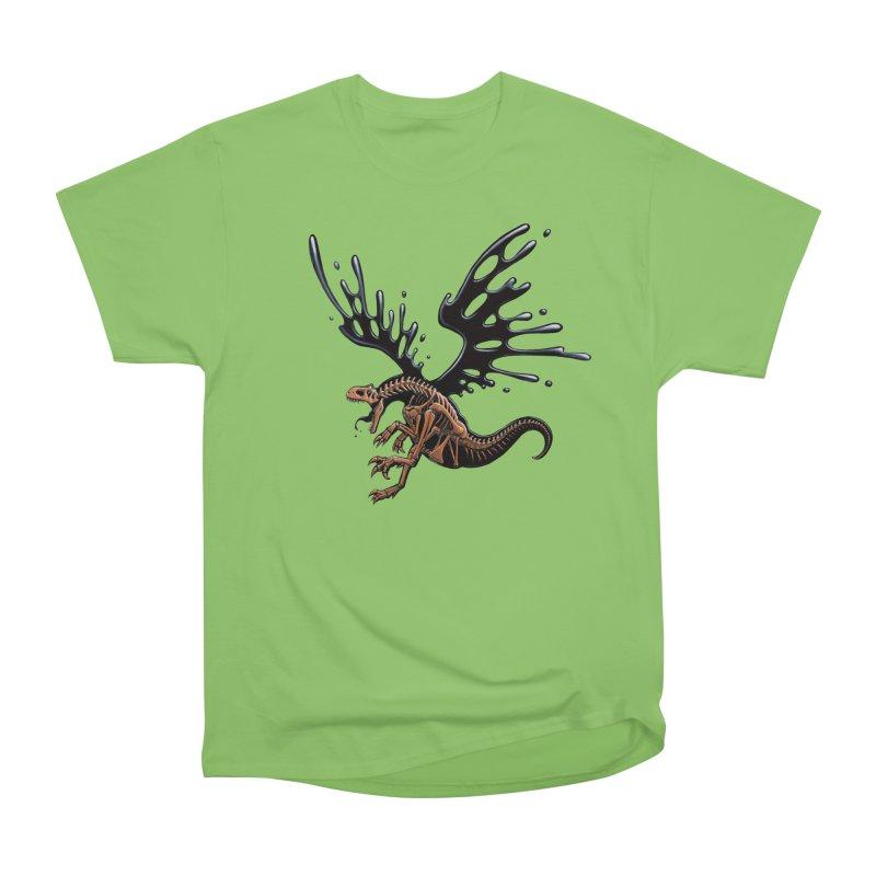Allosaurus Tar & Feathered Men's Heavyweight T-Shirt by Crab Saw Apparel