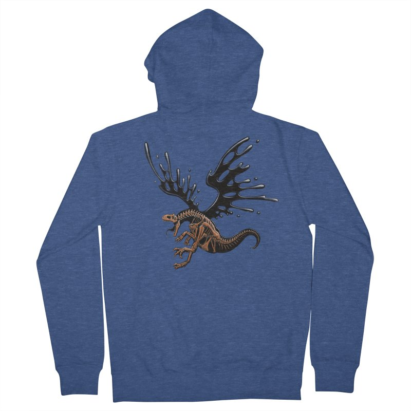 Allosaurus Tar & Feathered Women's French Terry Zip-Up Hoody by Crab Saw Apparel