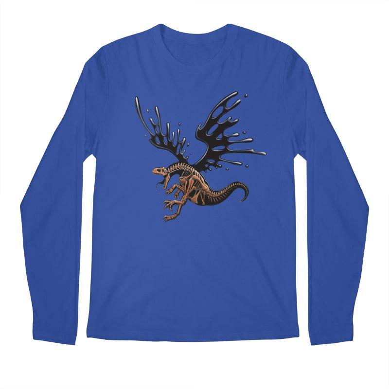 Allosaurus Tar & Feathered Men's Regular Longsleeve T-Shirt by Crab Saw Apparel