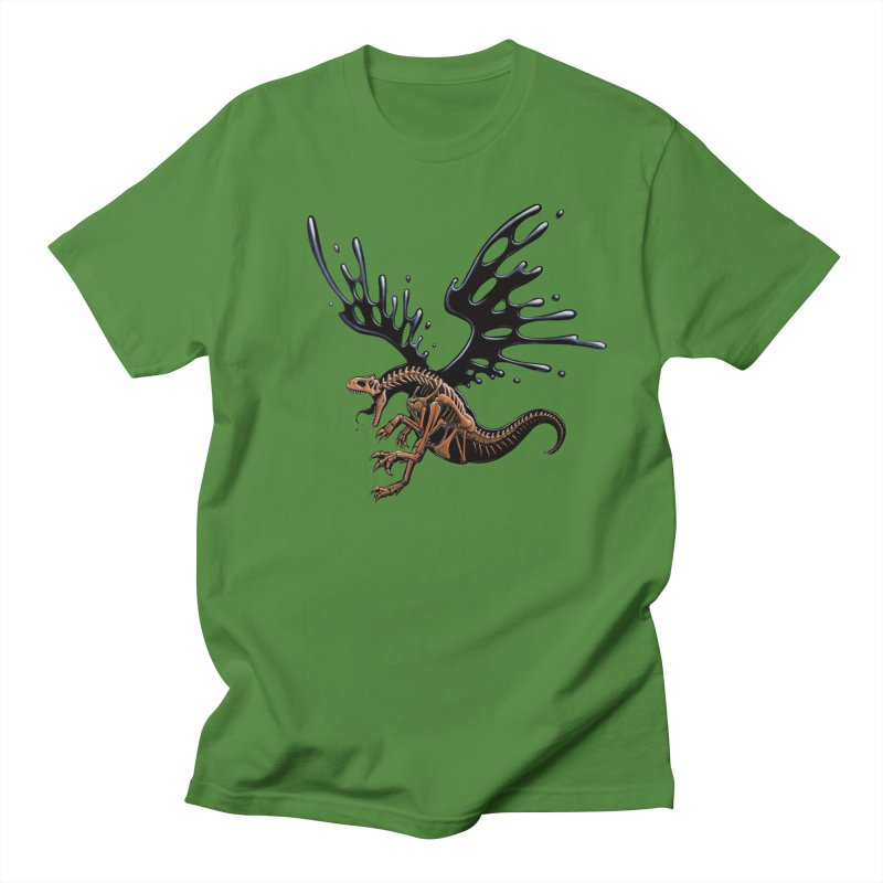 Allosaurus Tar & Feathered Men's Regular T-Shirt by Crab Saw Apparel