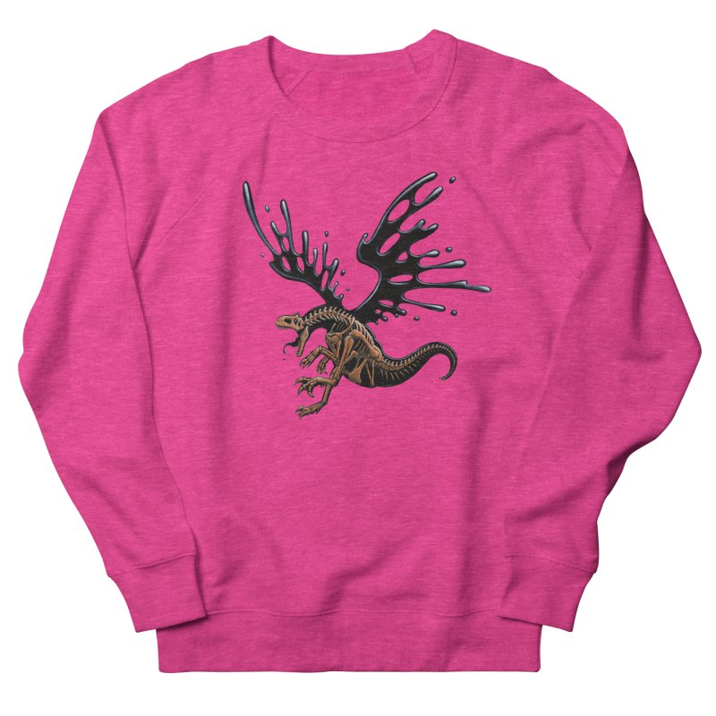 Allosaurus Tar & Feathered Women's French Terry Sweatshirt by Crab Saw Apparel