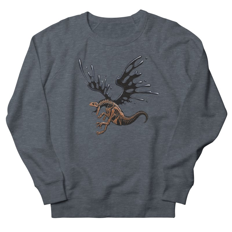 Allosaurus Tar & Feathered Men's French Terry Sweatshirt by Crab Saw Apparel