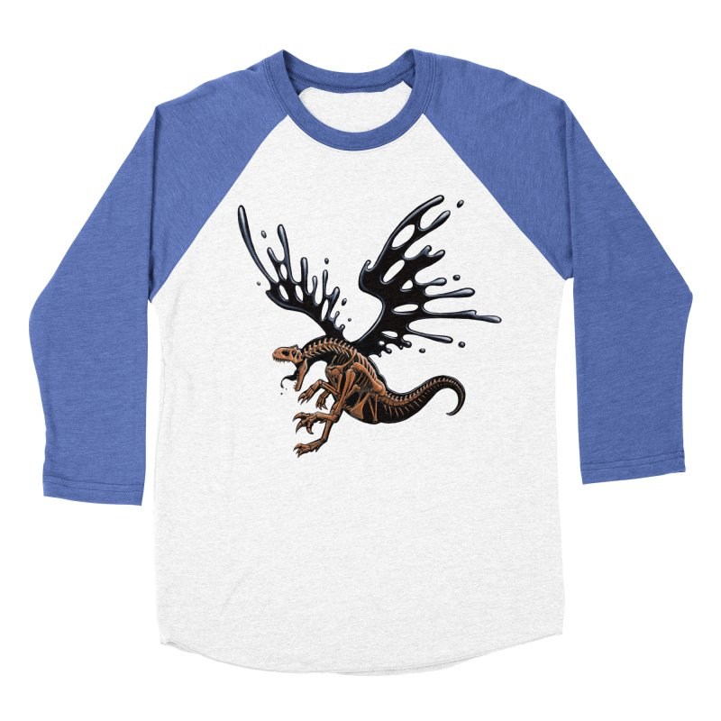 Allosaurus Tar & Feathered Men's Baseball Triblend Longsleeve T-Shirt by Crab Saw Apparel