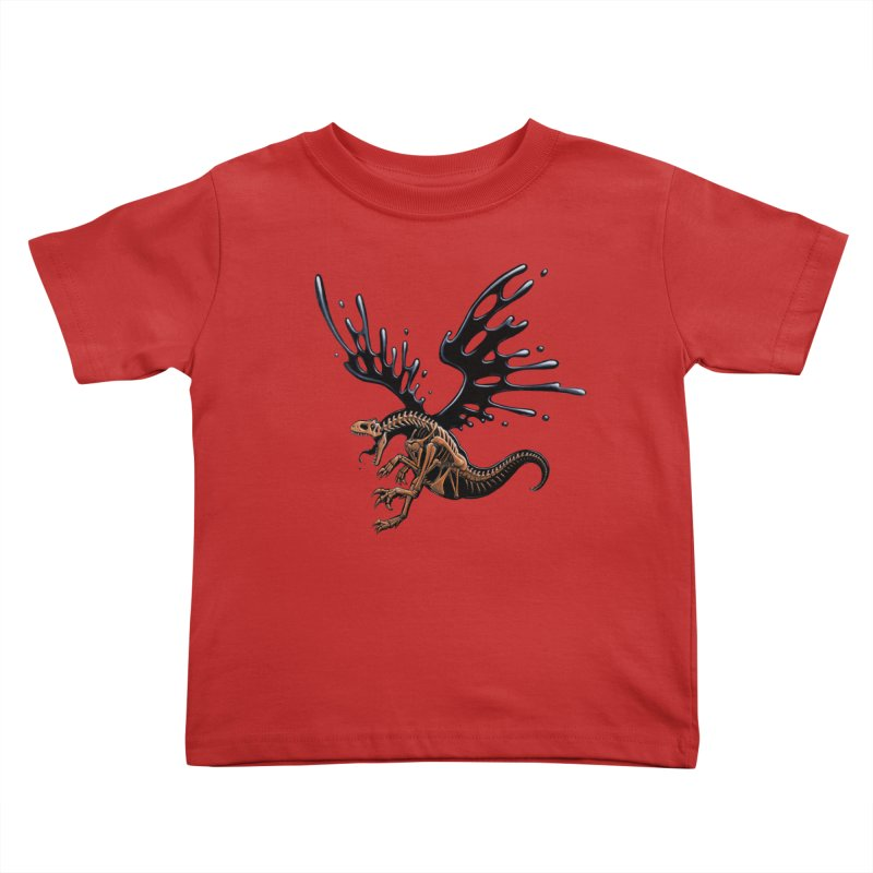 Allosaurus Tar & Feathered Kids Toddler T-Shirt by Crab Saw Apparel