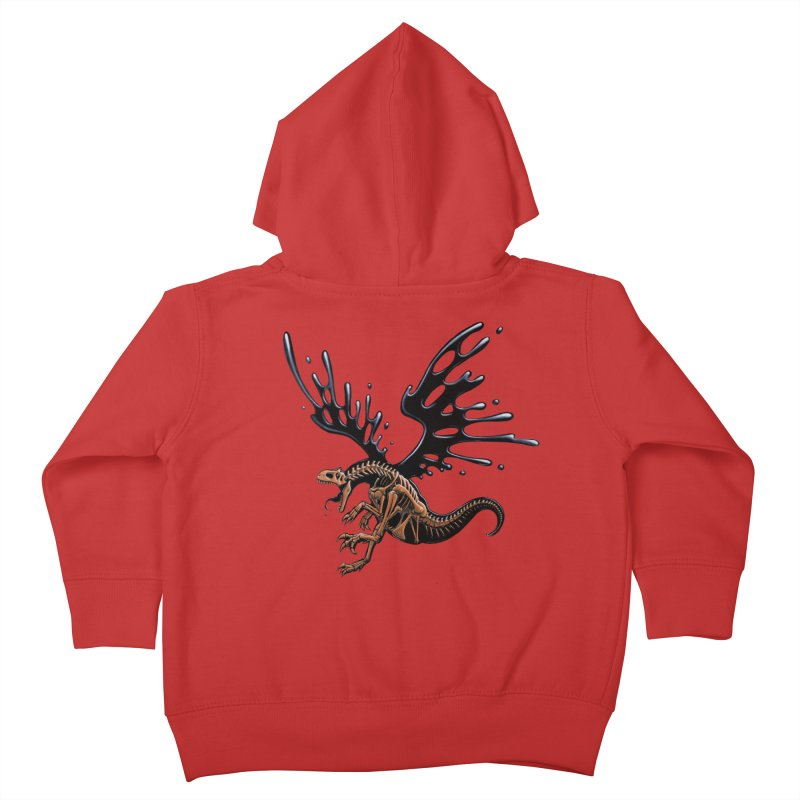 Allosaurus Tar & Feathered Kids Toddler Zip-Up Hoody by Crab Saw Apparel