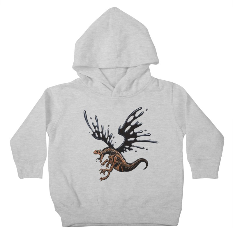 Allosaurus Tar & Feathered Kids Toddler Pullover Hoody by Crab Saw Apparel