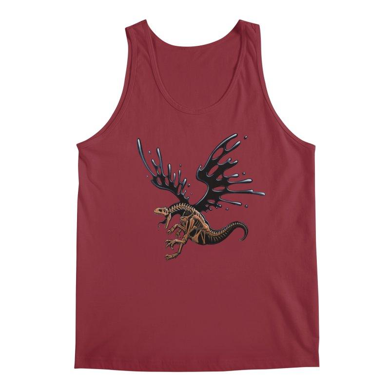 Allosaurus Tar & Feathered Men's Tank by Crab Saw Apparel