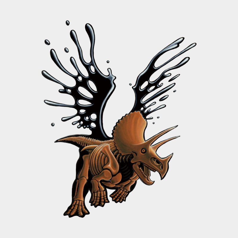 Triceratops Tar & Feathered by Crab Saw Apparel